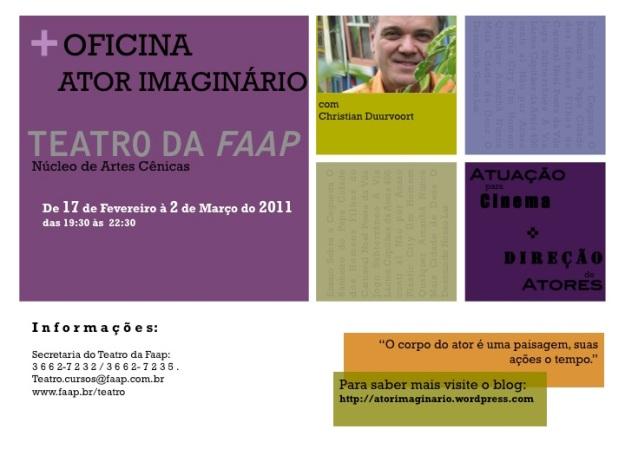Oficina de Interpretação e Direção de Atores no Cinema - Fevereiro de 2011
