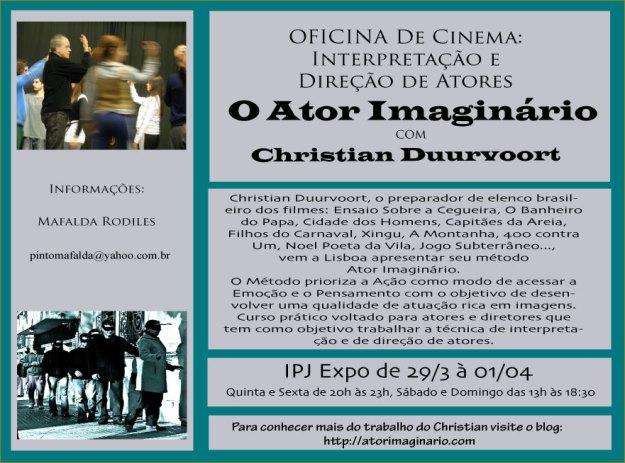 Oficina Intensiva de Interpretação e Direção de Atores no Cinema.